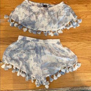 Aqua brand tie dye set